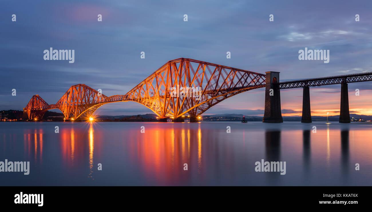 Forth Rail Bridge, UNESCO World Heritage Site, Ecosse, Royaume-Uni, Europe Photo Stock