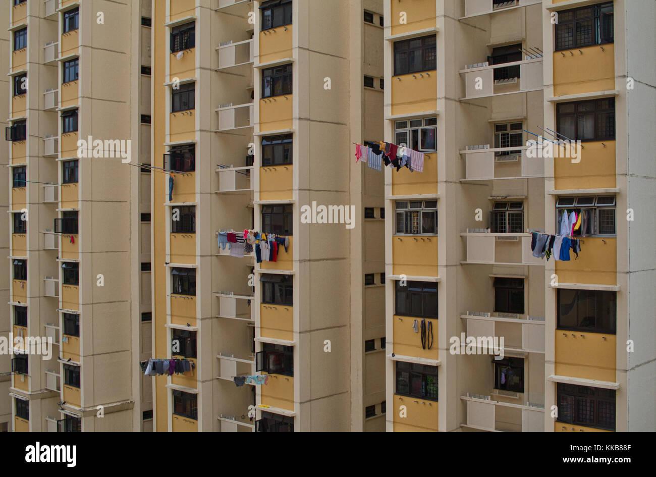 Les logements de l'appartement à Singapour. Banque D'Images