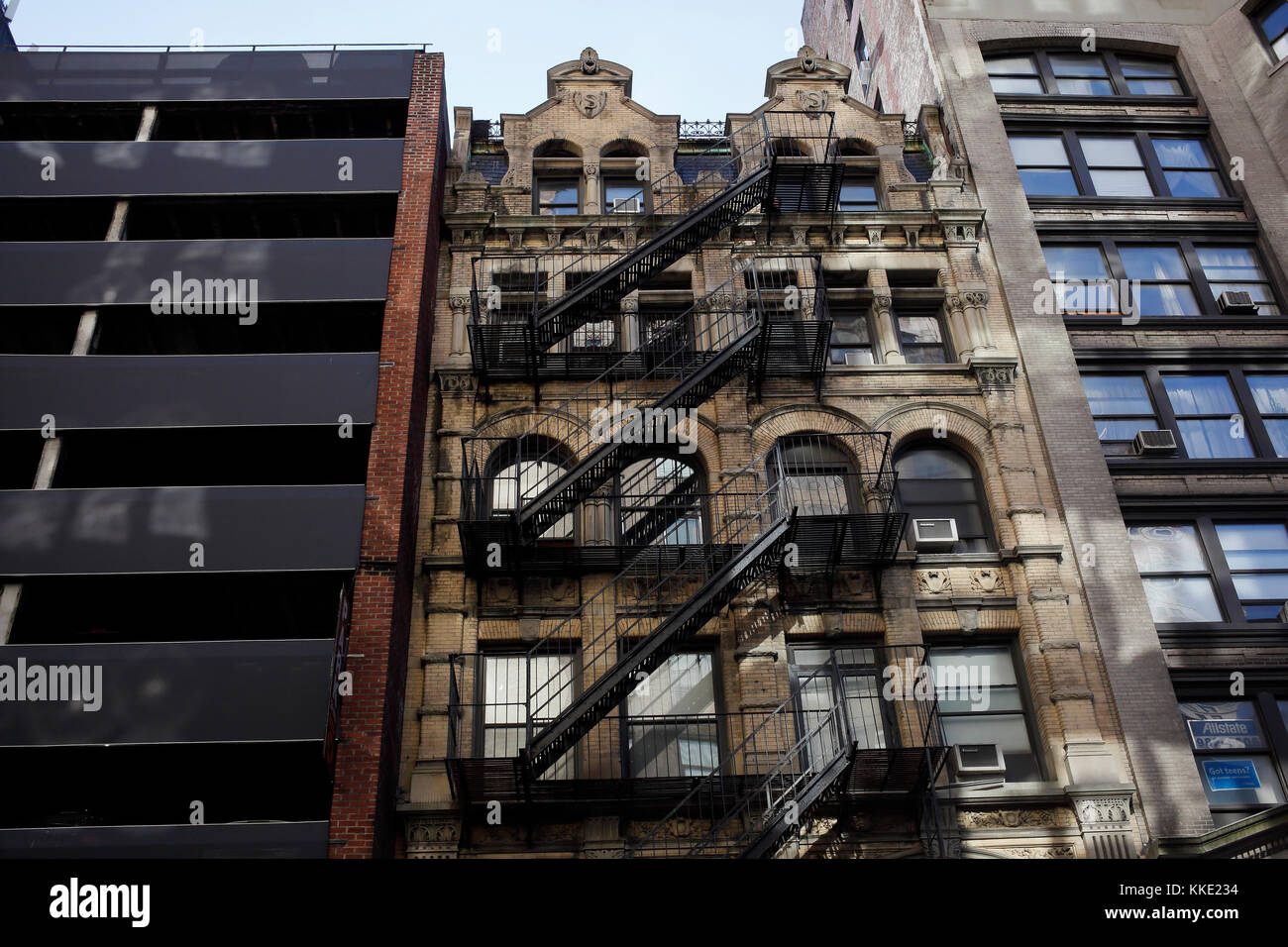 Bâtiment avec une architecture de style flamand à New York City Photo Stock