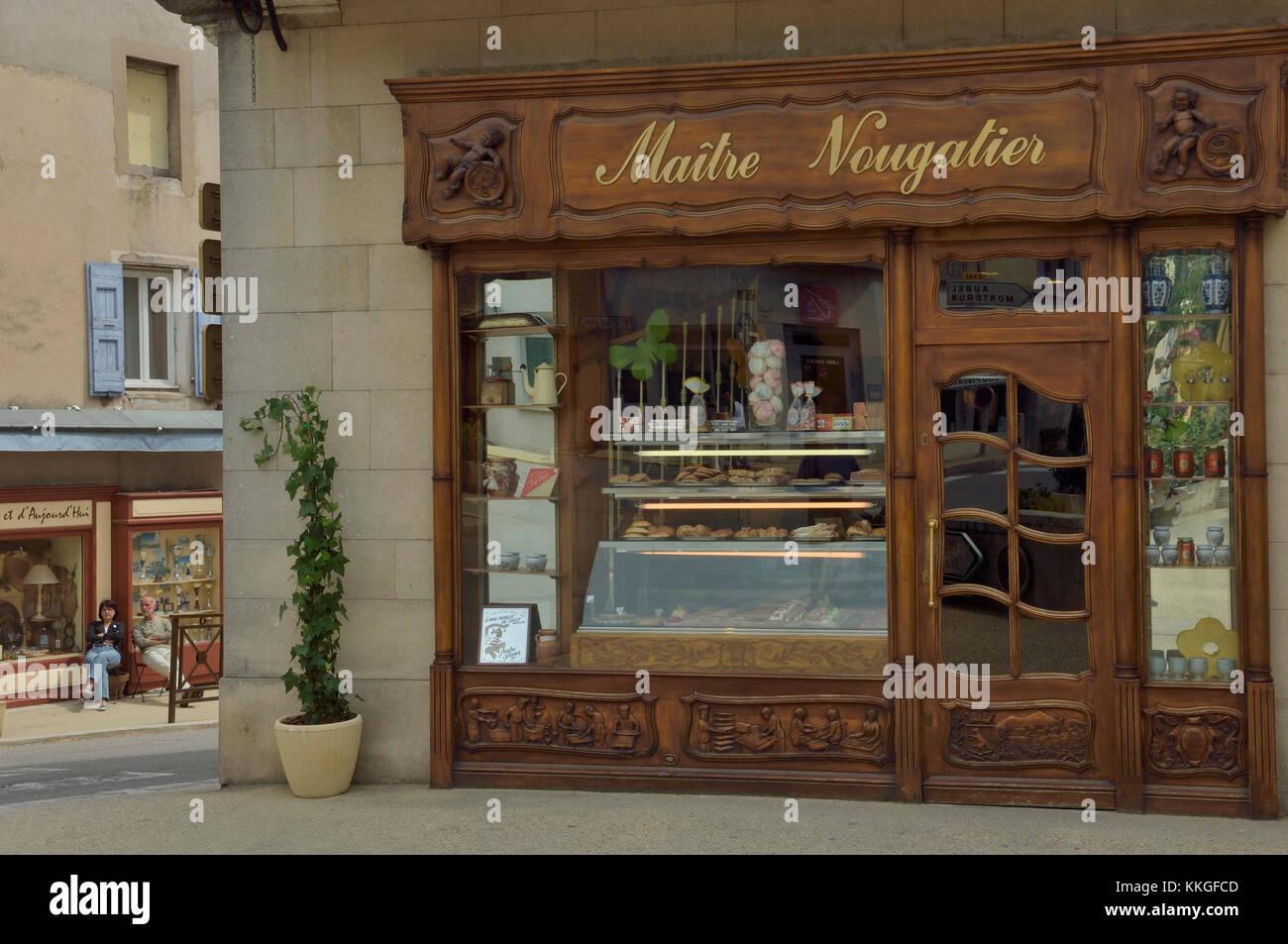 10039fdfb05c86 André Boyer nougat boutique, sault, Provence, France Photo Stock