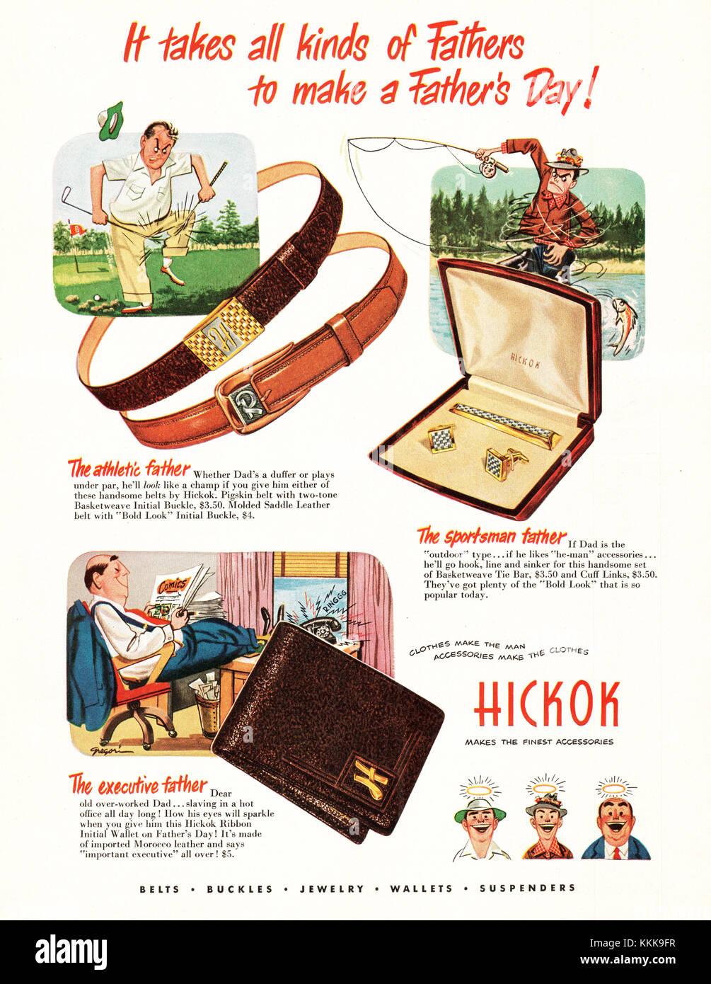 1949 Magazine américain Hicock Mens  Accessoires Annonce Banque D ... 948a3ce78f95