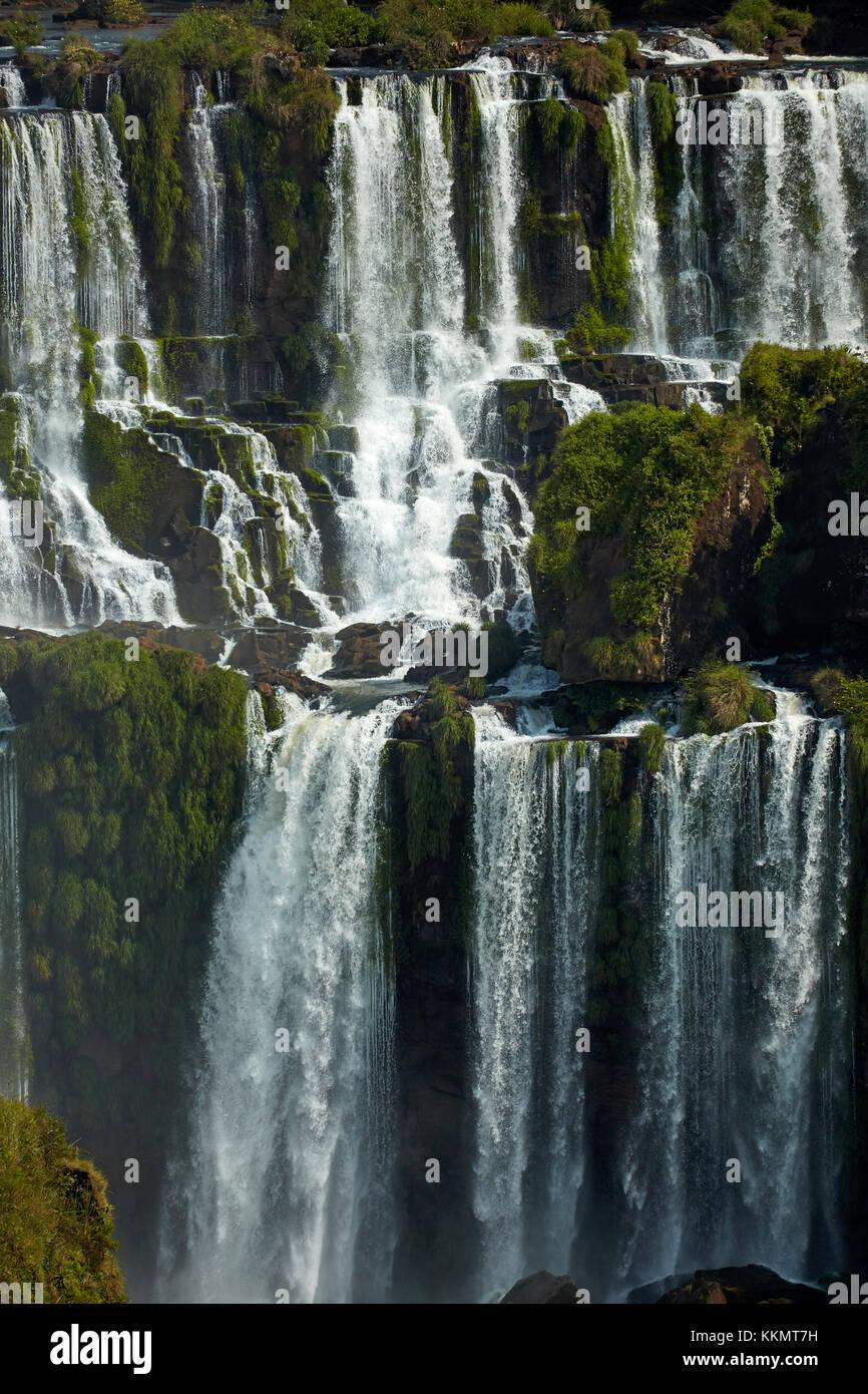 D'Iguazu, argentine, vu de côté, l'Amérique du Sud Brésil Banque D'Images