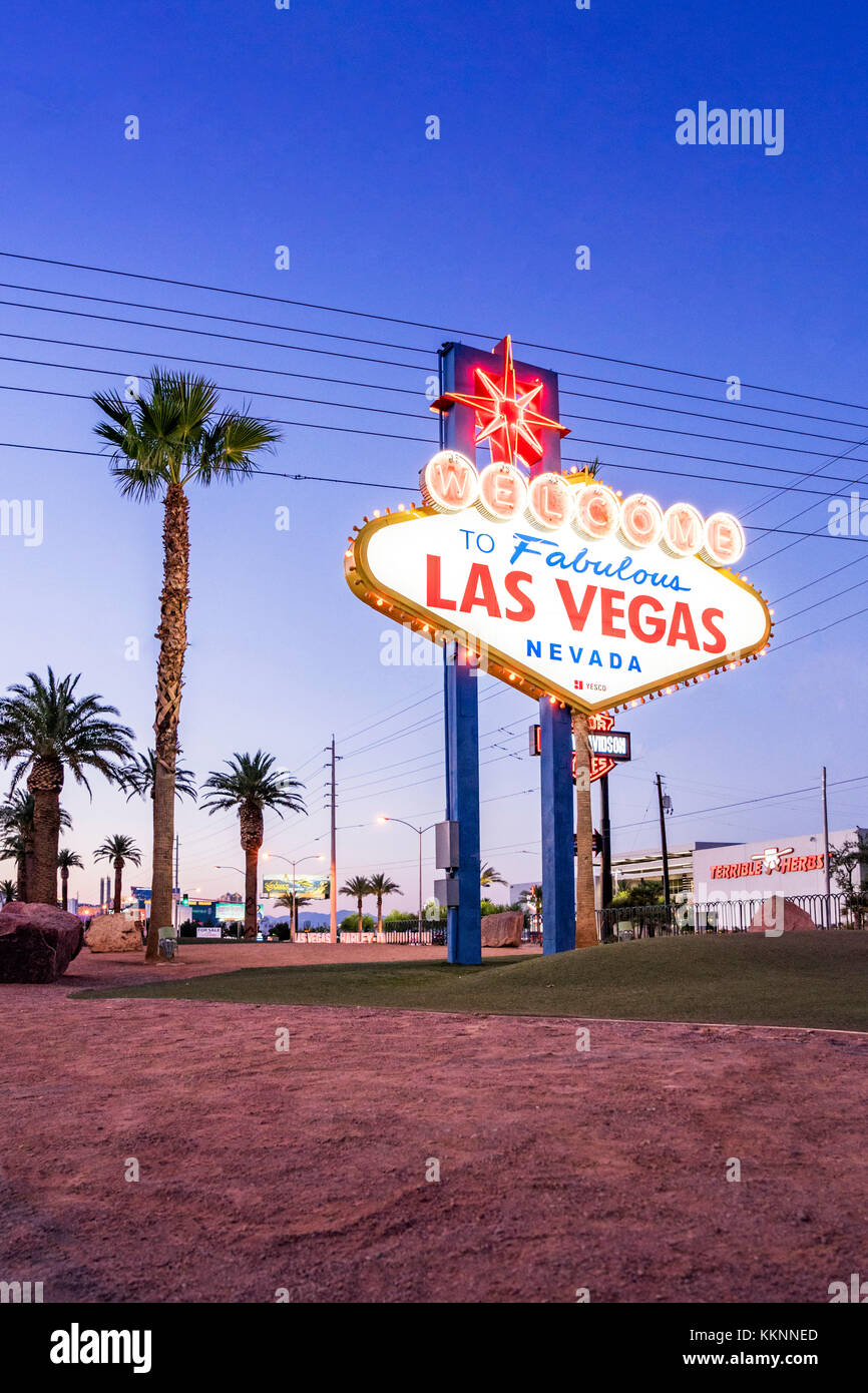 Panneau de bienvenue, Las Vegas, Nevada, USA Photo Stock