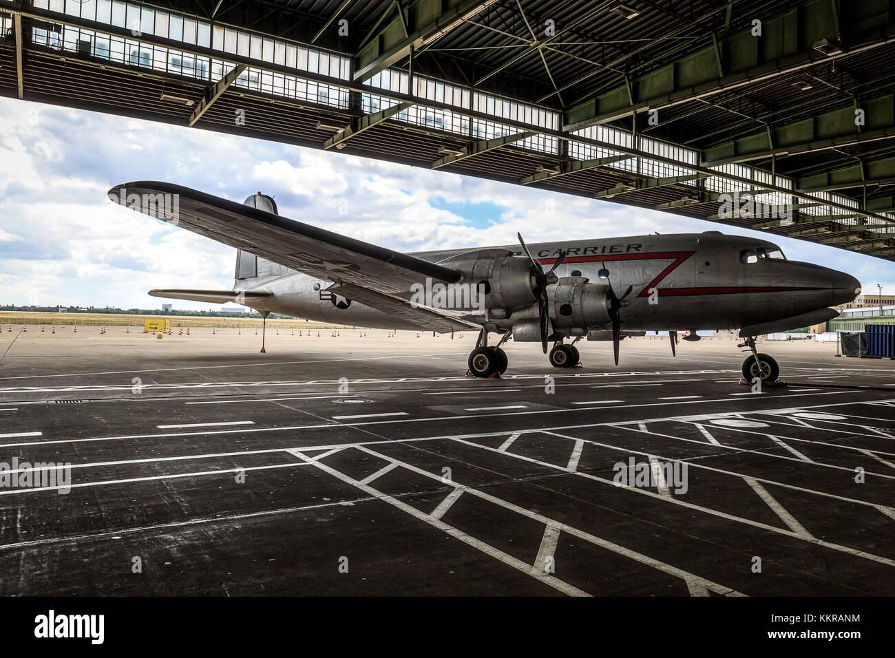 Ces avions ont été utilisés à l'. blocus de Berlin le blocus de Berlin (24 juin 1948 - 12 Photo Stock