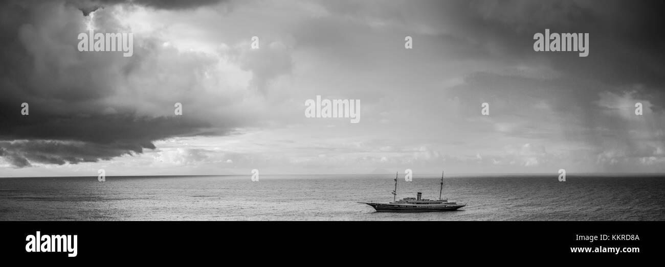 French West Indies, st-barthelemy, Gustavia, le port de Gustavia et yacht Banque D'Images