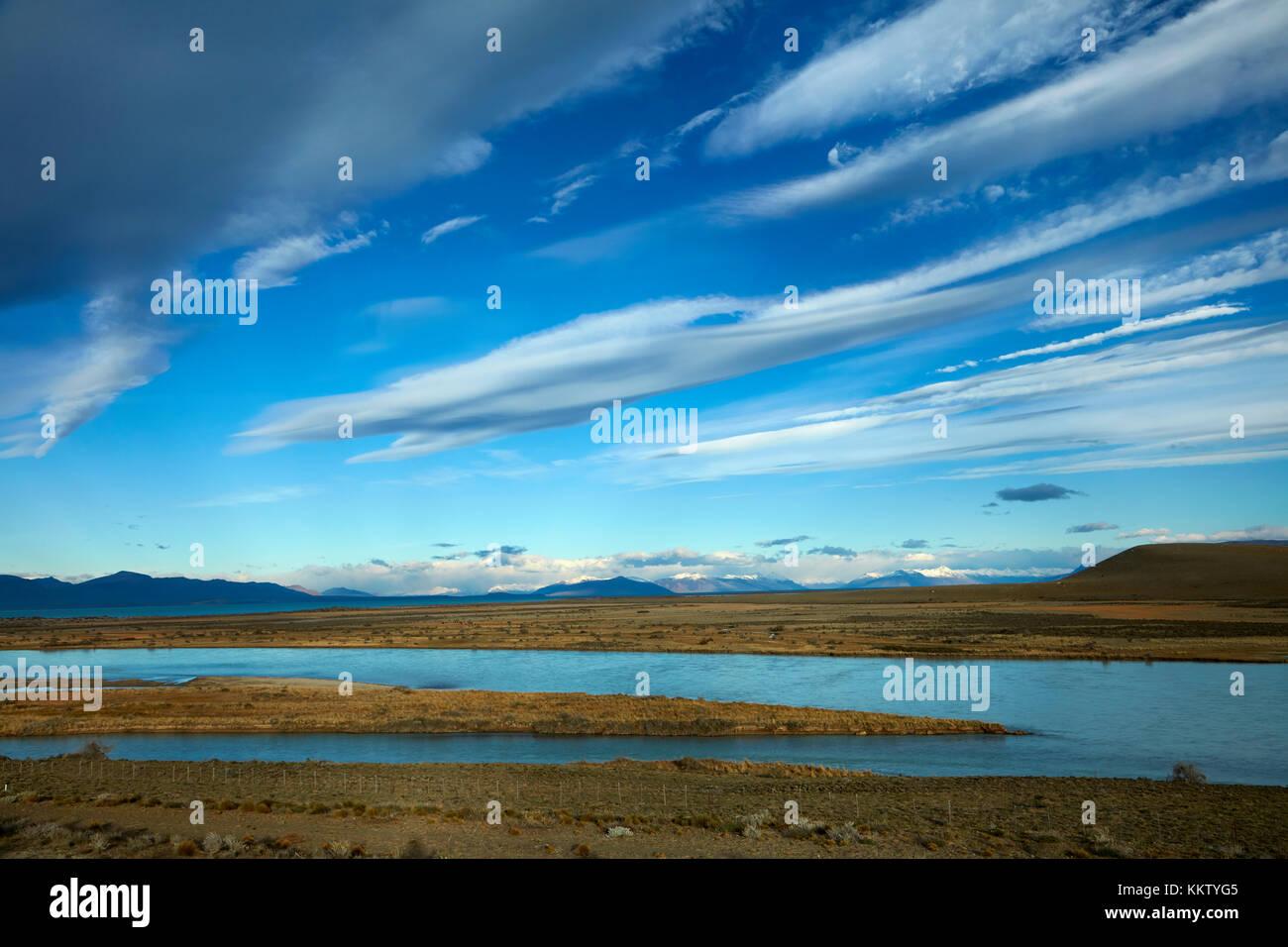 Rivière La Leona, Patagonie, Argentine, Amérique du Sud Photo Stock