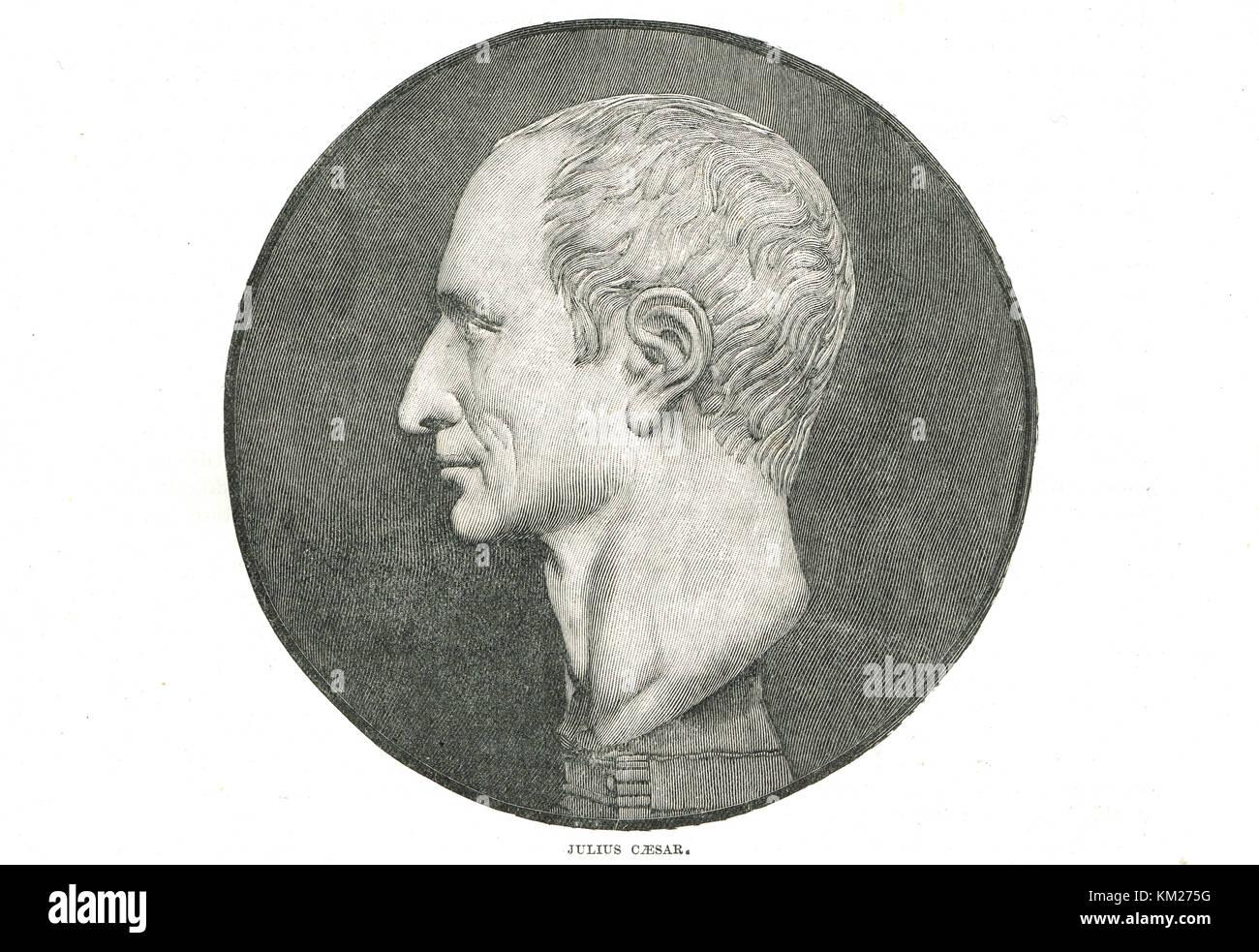 Jules César, un général romain & dictateur Photo Stock