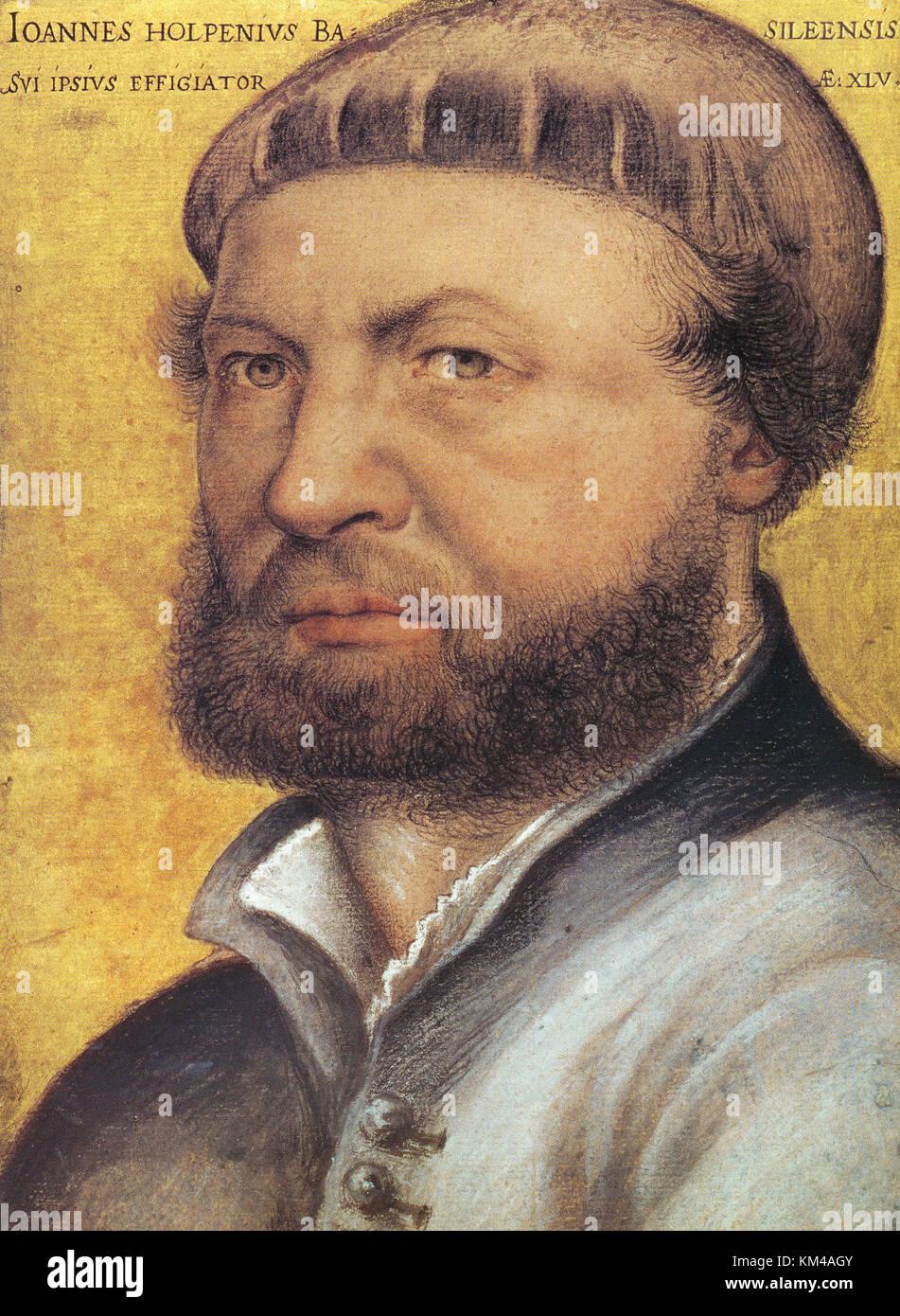 Hans Holbein le Jeune, l'allemand et l'artiste suisse Photo Stock