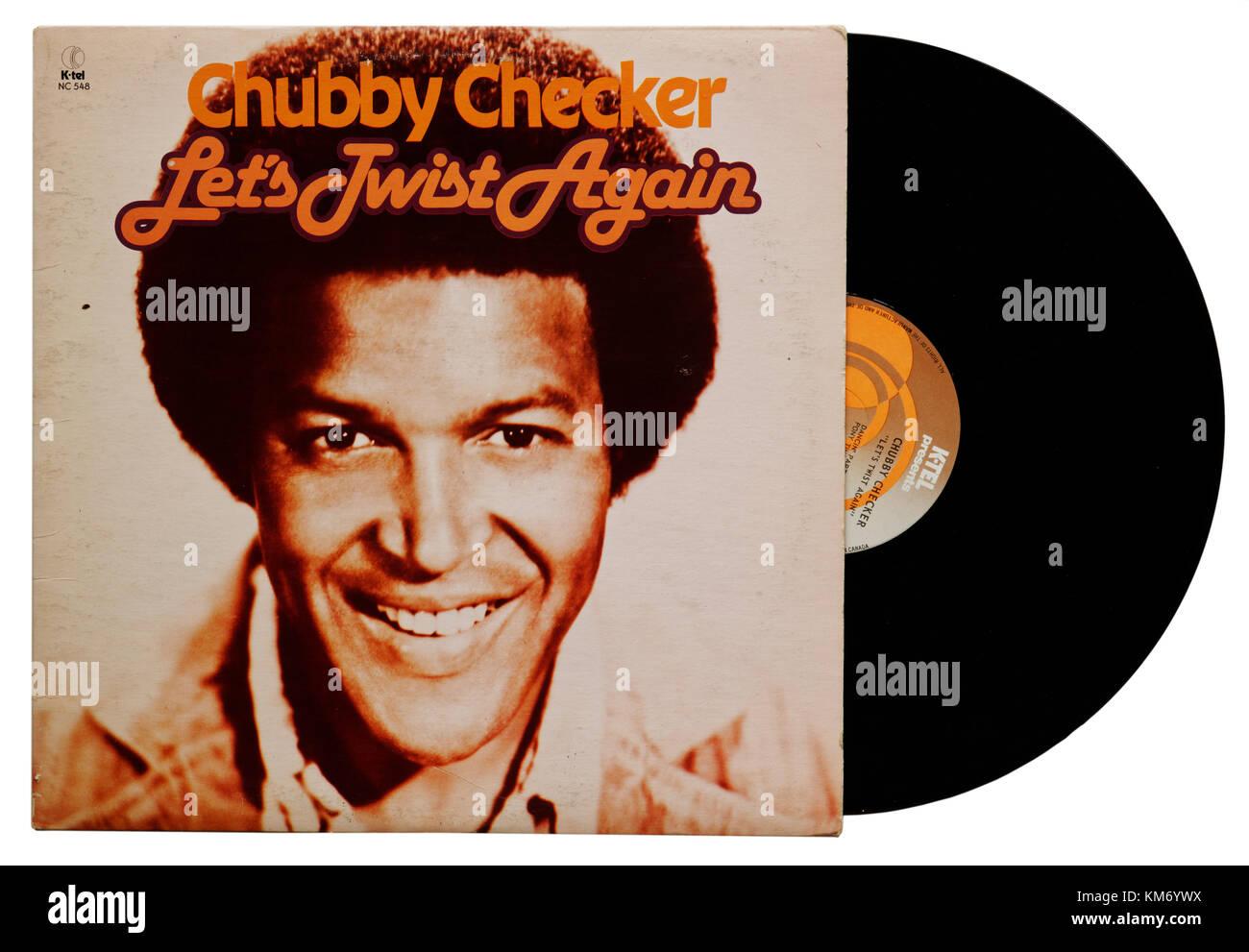 Chubby Checker Let's Twist Again album Photo Stock