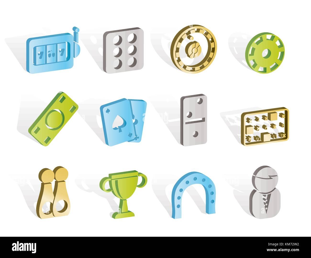 Casino jeu et des icônes - vector icon set Photo Stock