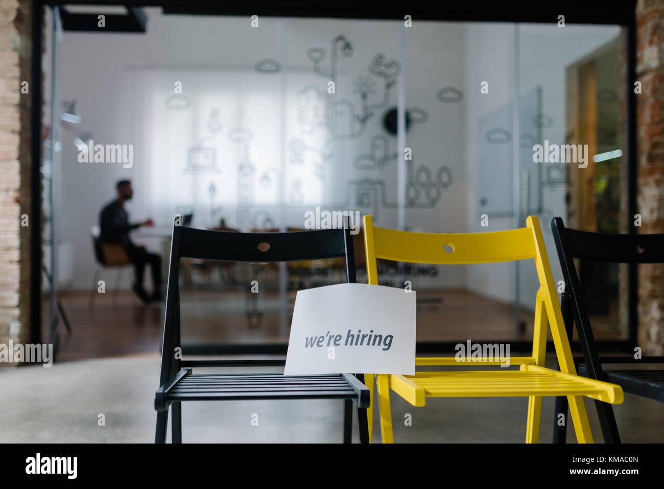 La publicité pour les nouveaux emplois Photo Stock