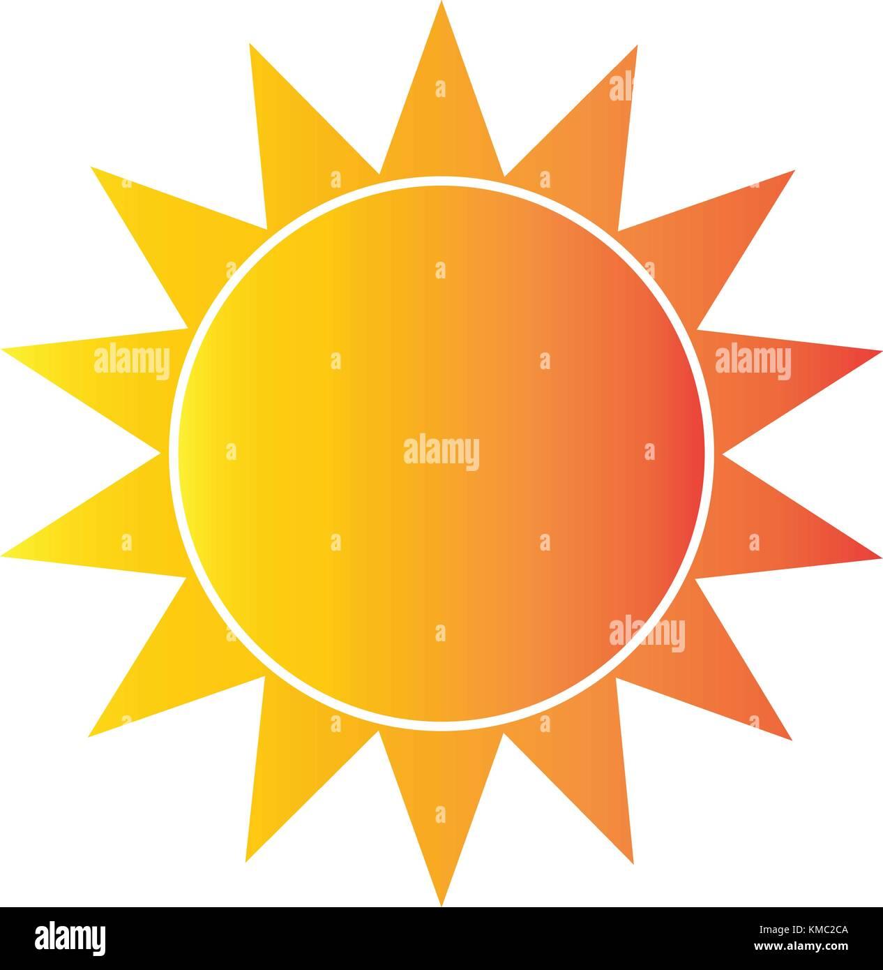 Résumé La forme sun Photo Stock