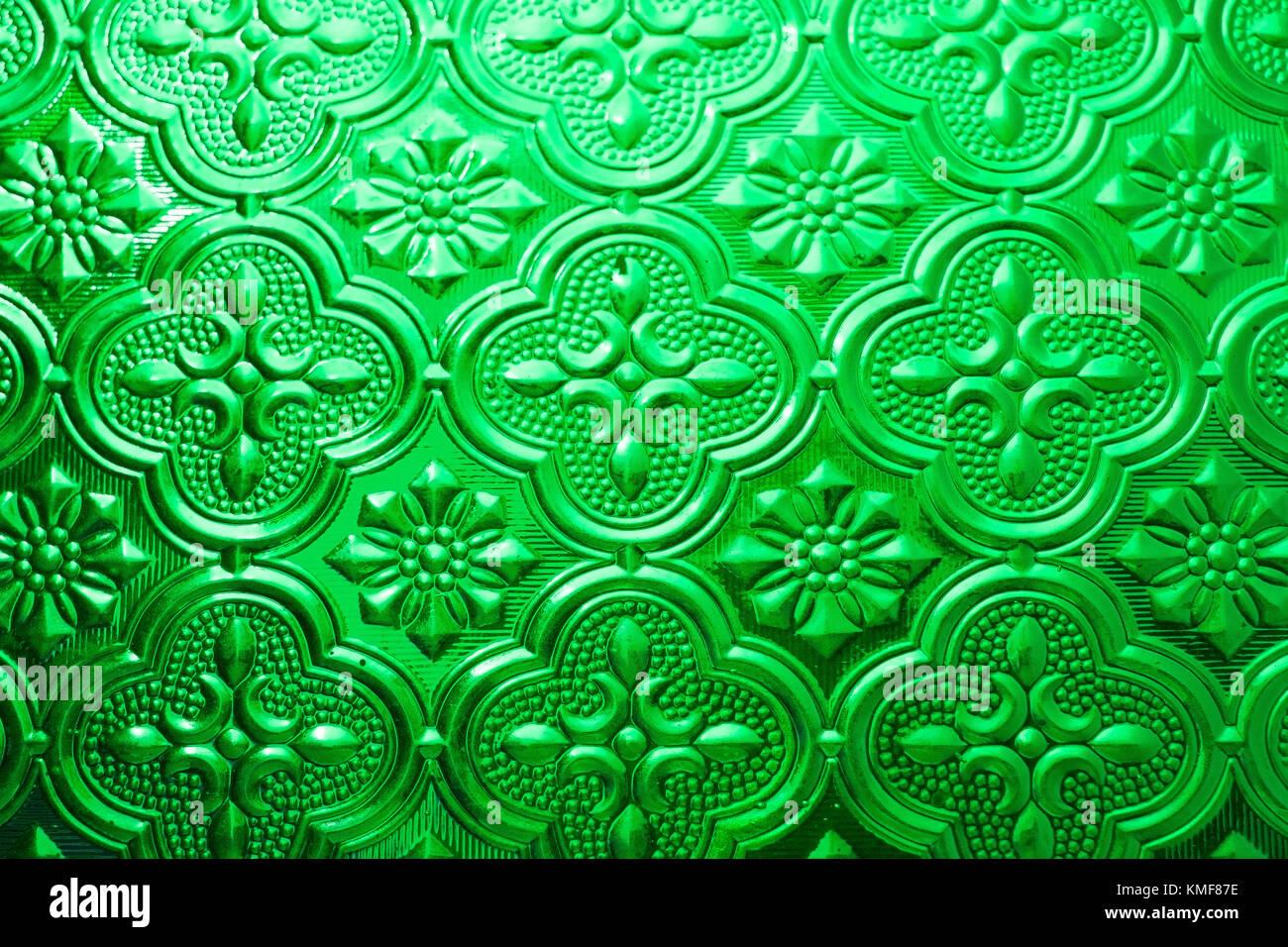Seamless Texture Vert Coloré Fond Intérieur En Verre Décoration