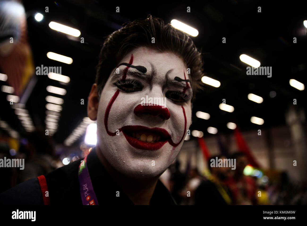 Sao Paulo, Brésil. 07Th dec, 2017. 'Les cosplayeurs habillés comme des personnages de fiction préféré Photo Stock