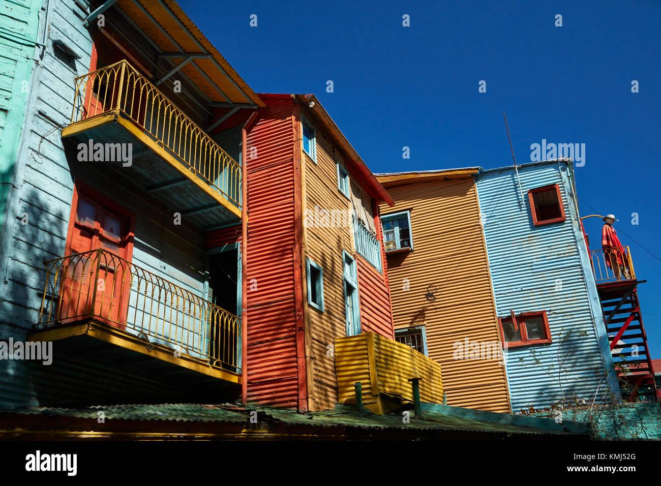 Bâtiments sur el Caminito, la Boca, Buenos Aires, Argentine, Amérique du Sud Photo Stock