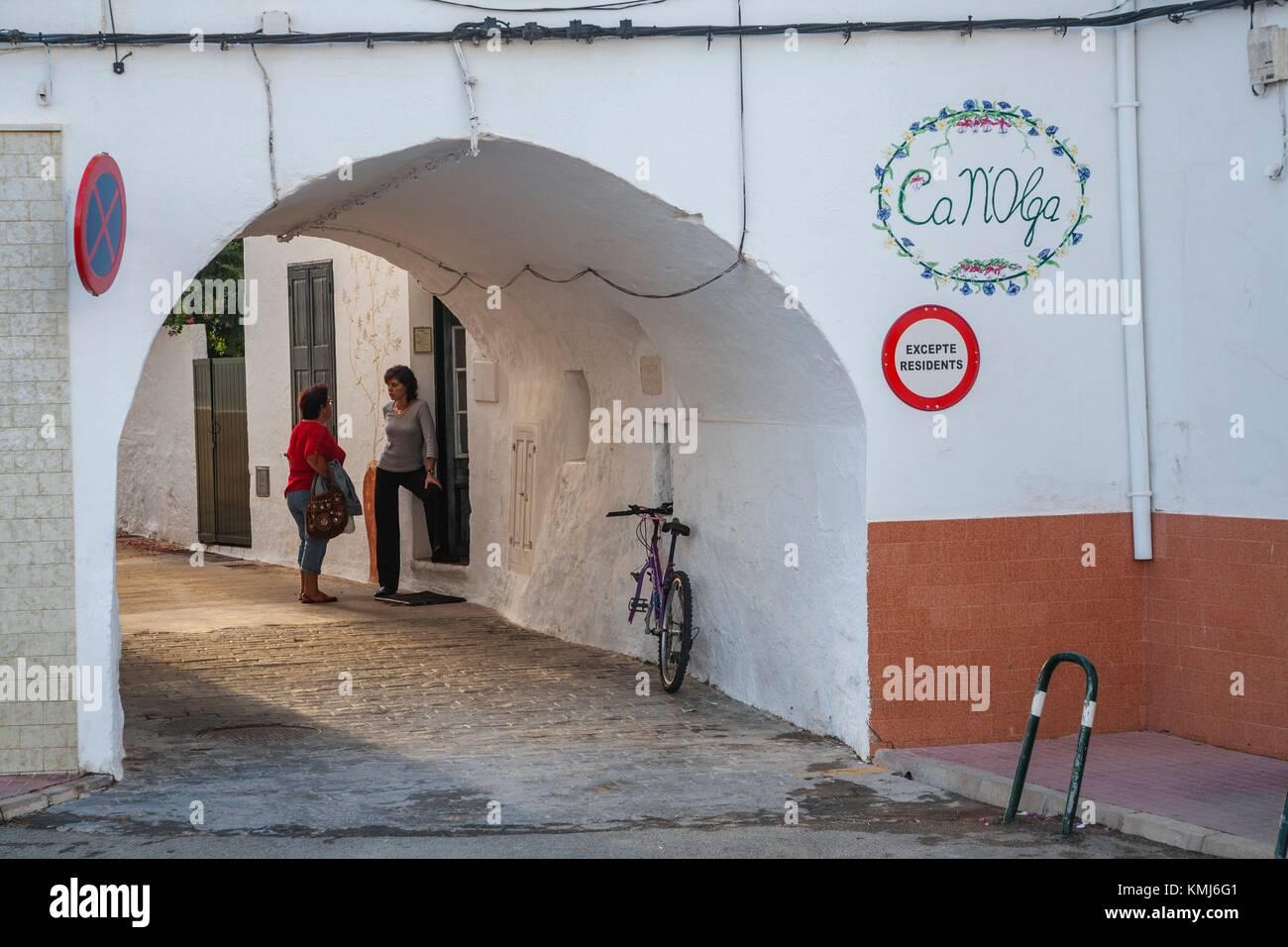 Es Mercadal. Minorque, Iles Baléares, Espagne Photo Stock