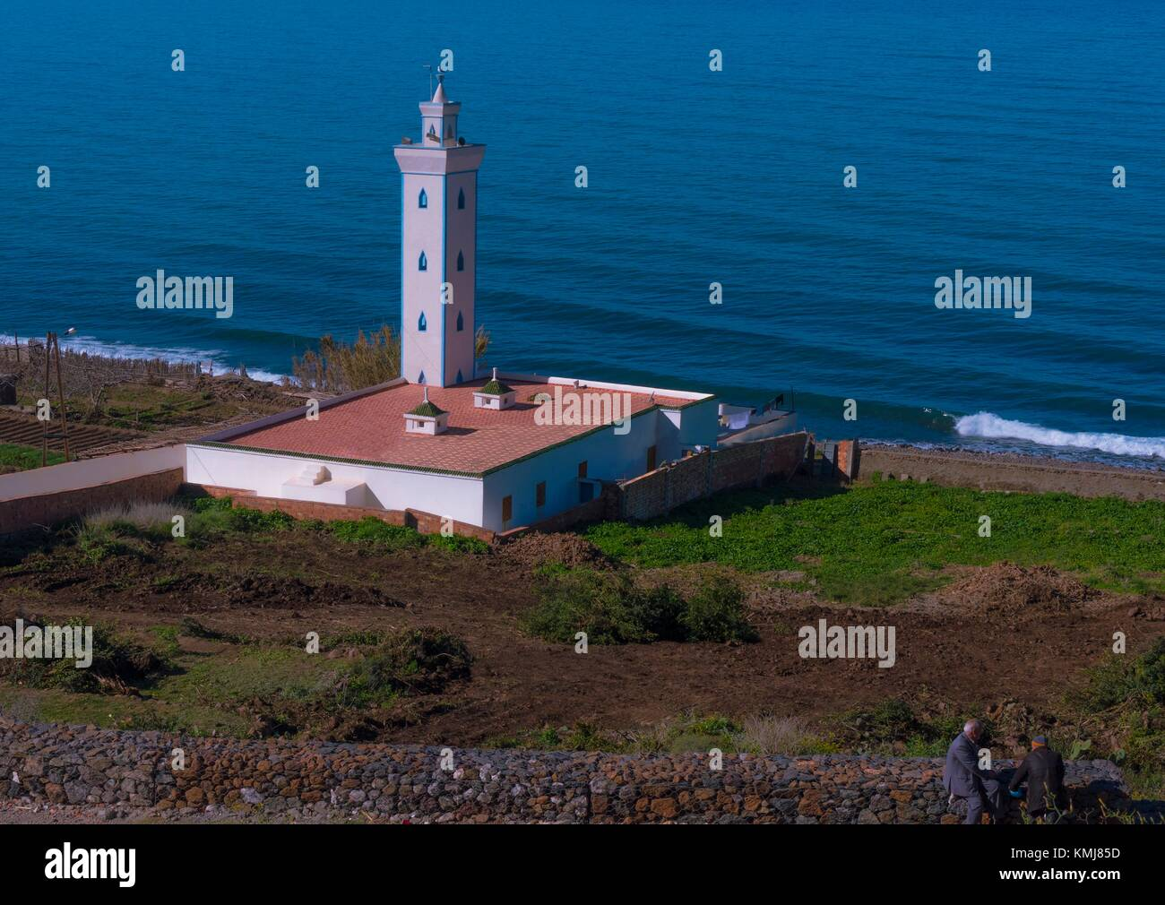 Le Maroc, la côte méditerranéenne, entre Al Hoceima et Nador. Photo Stock