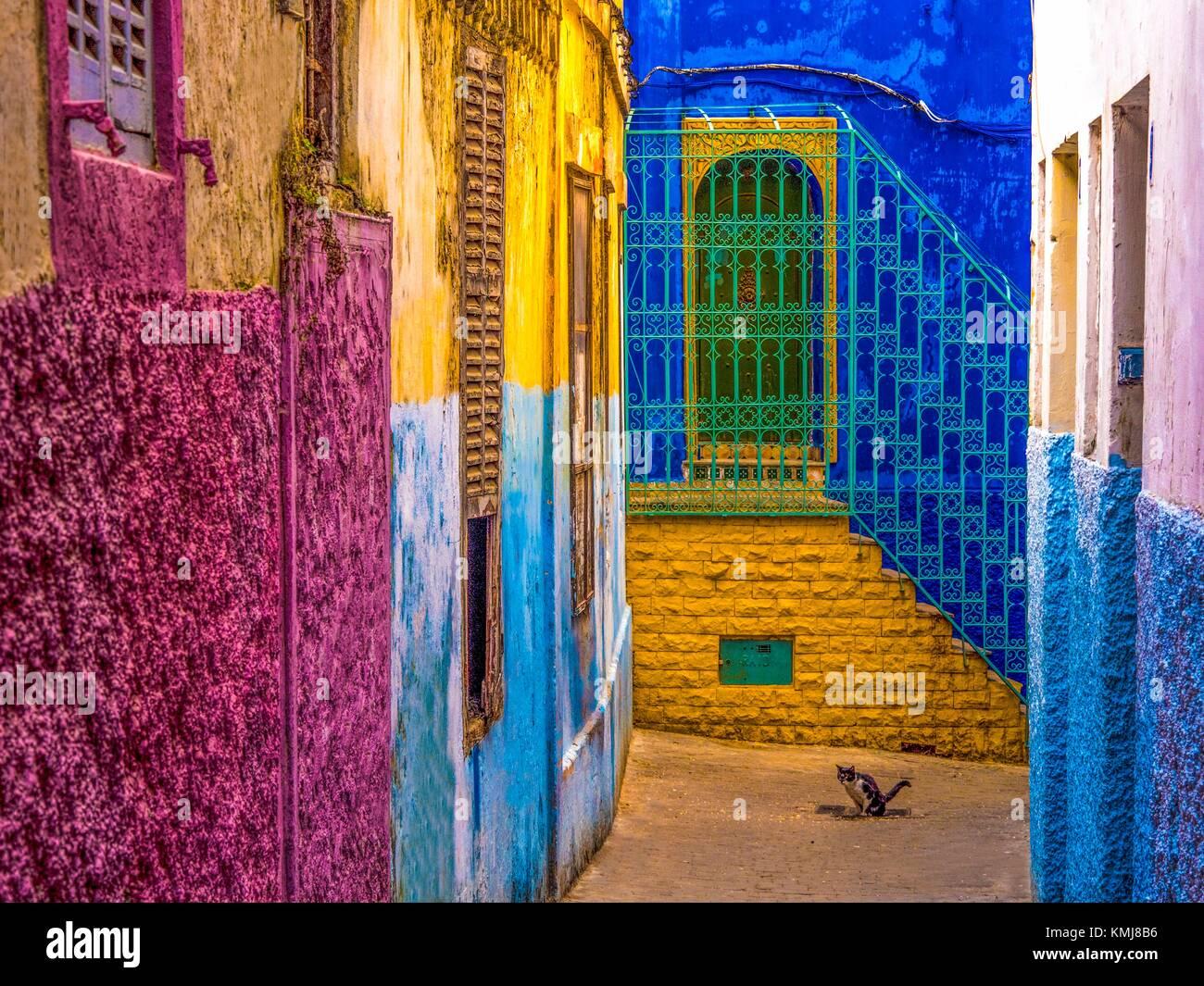 Maroc, Tanger, dans les 'Medina' (partie ancienne) de Tanger. Photo Stock
