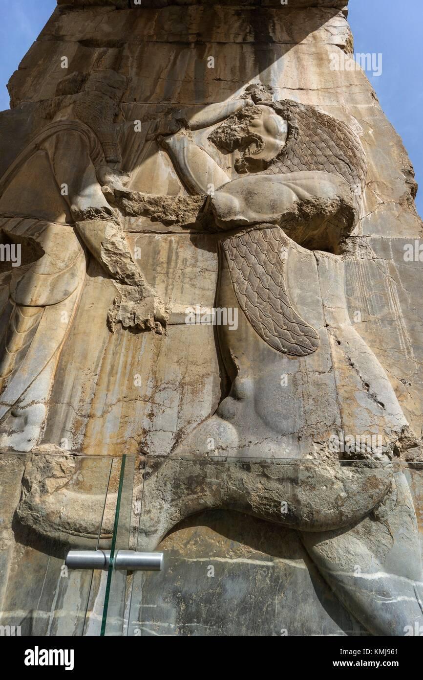 Ruines de Persépolis. La province du Fars. L'Iran. Photo Stock