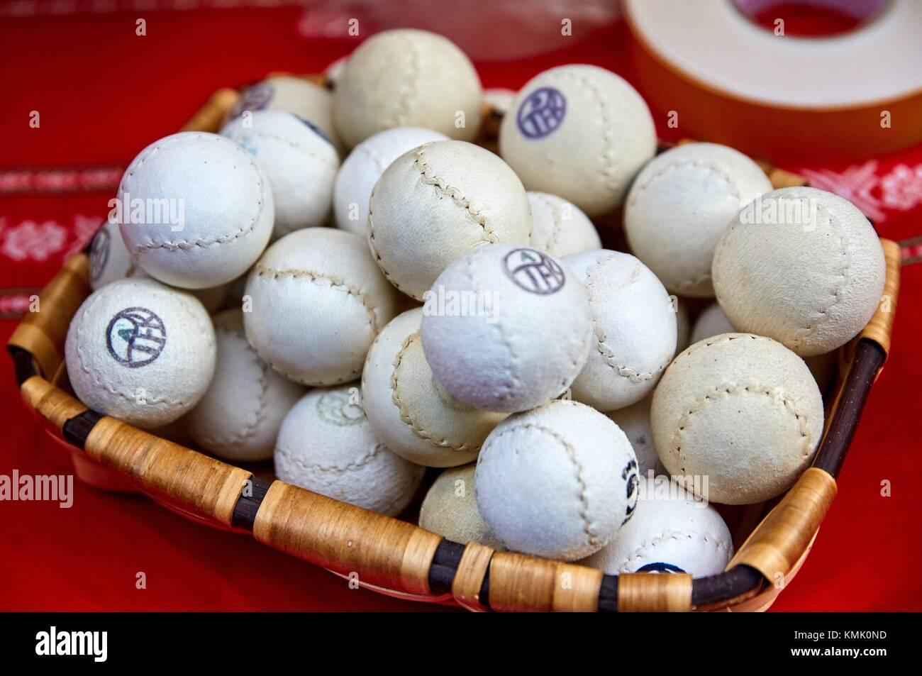 La Pelota Vasca (pelote basque), Feria de Santo Tomás, la fête de saint Thomas a lieu le 21 décembre. Au cours de cette journée San Sebastián est transformé Banque D'Images