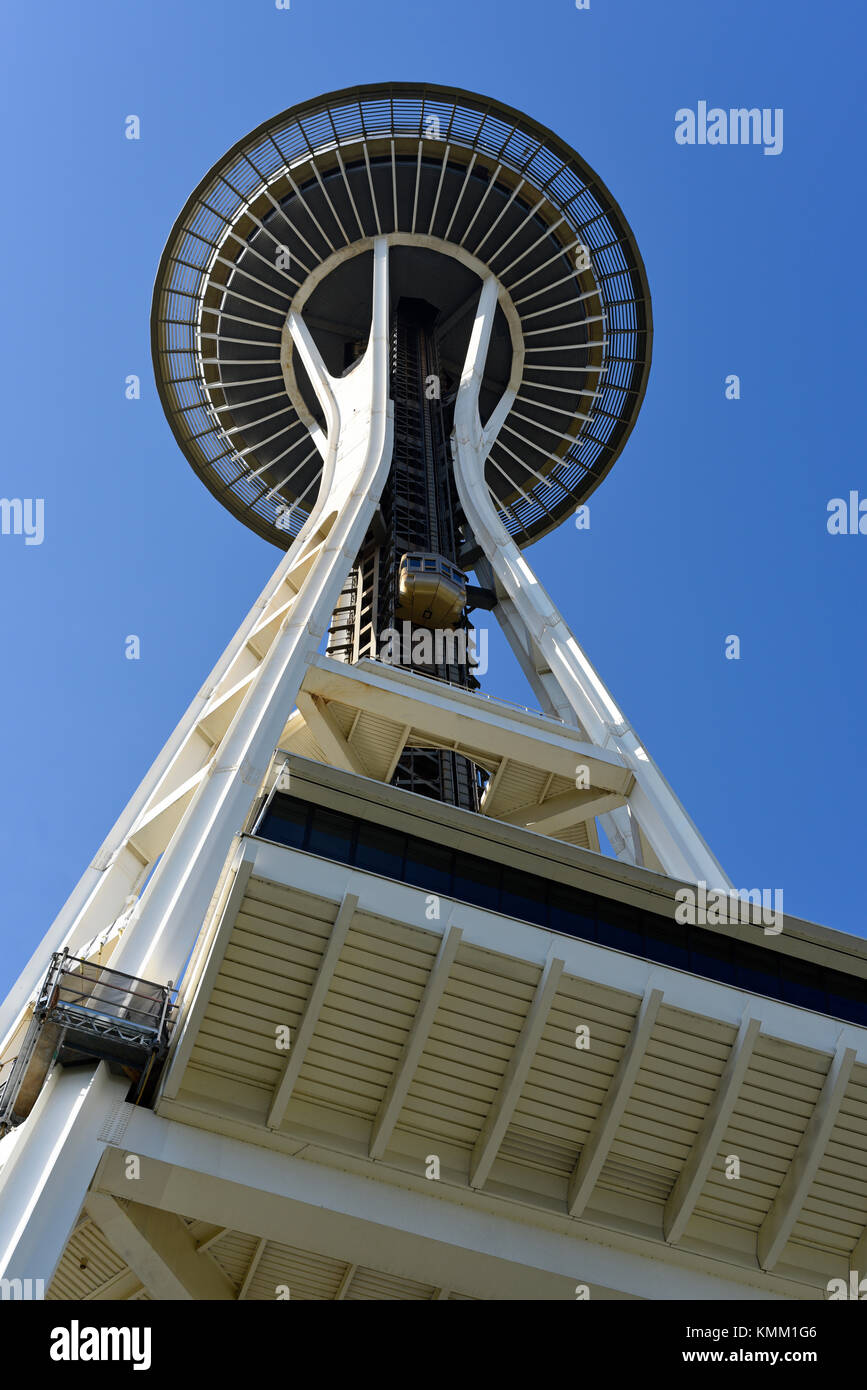 La tour d'observation Space Needle de Seattle, Washington State, USA Photo Stock