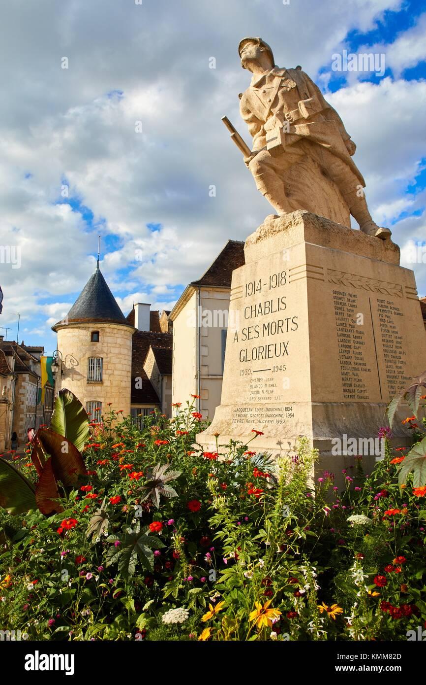 Noel porte, porte Noel, Chablis, Yonne, Bourgogne, Bourgogne, France, Europe Photo Stock