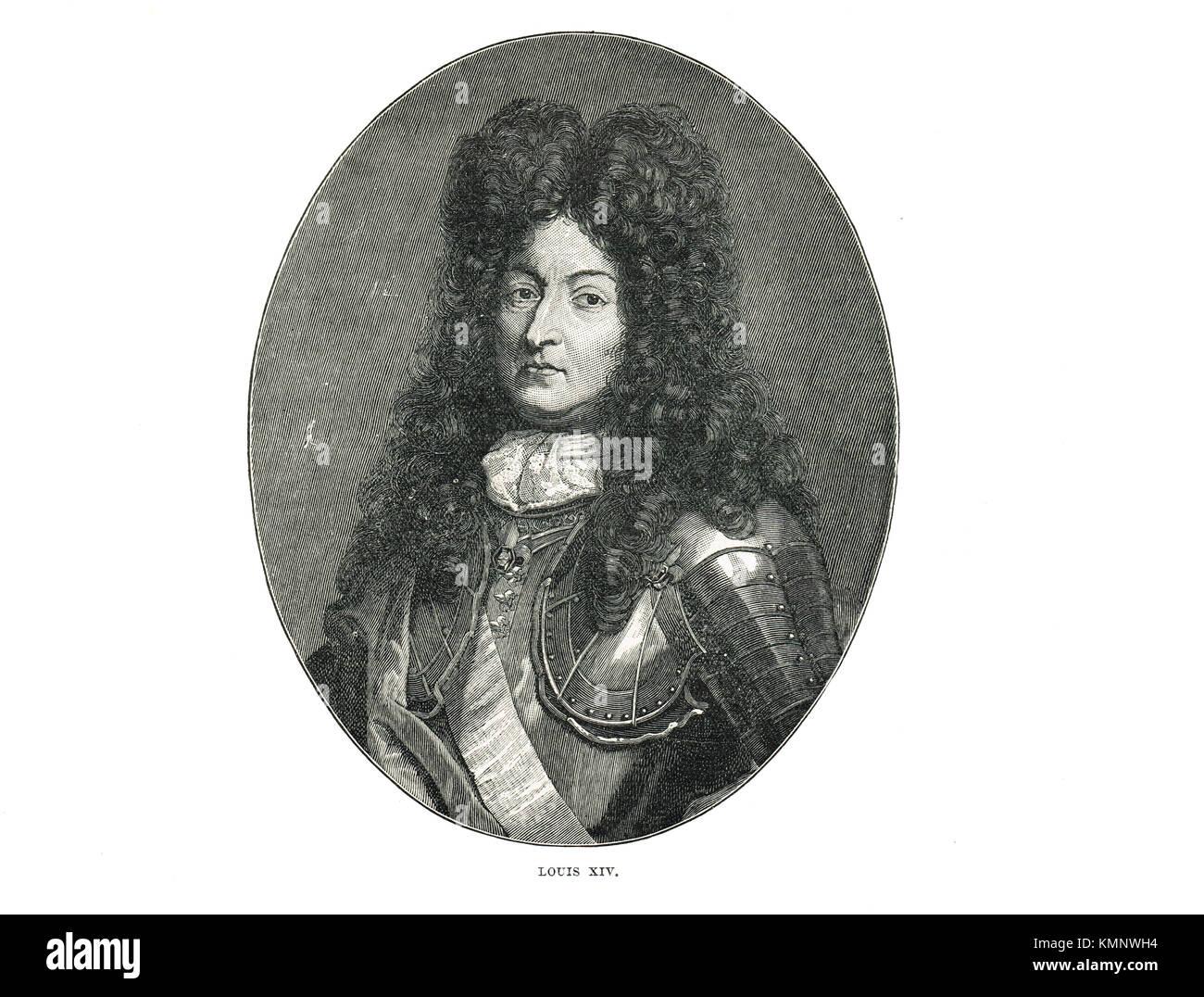Louis XIV de France, le Roi Soleil (1638-1715), qui régna de 1643-1715 Banque D'Images