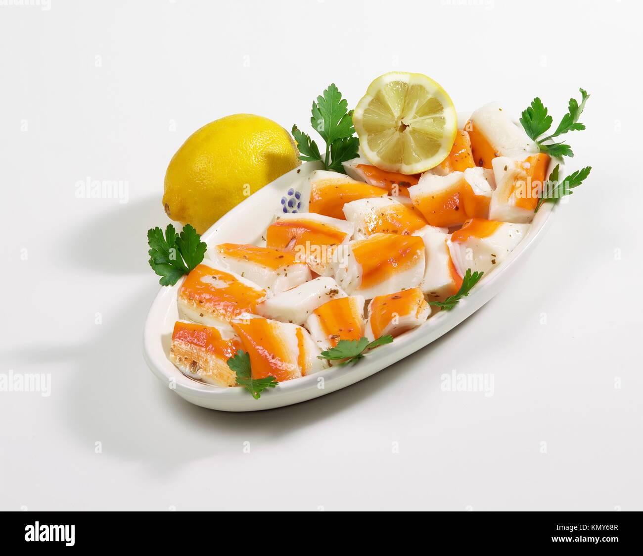 Orto4 crabe surimi 010lave Photo Stock