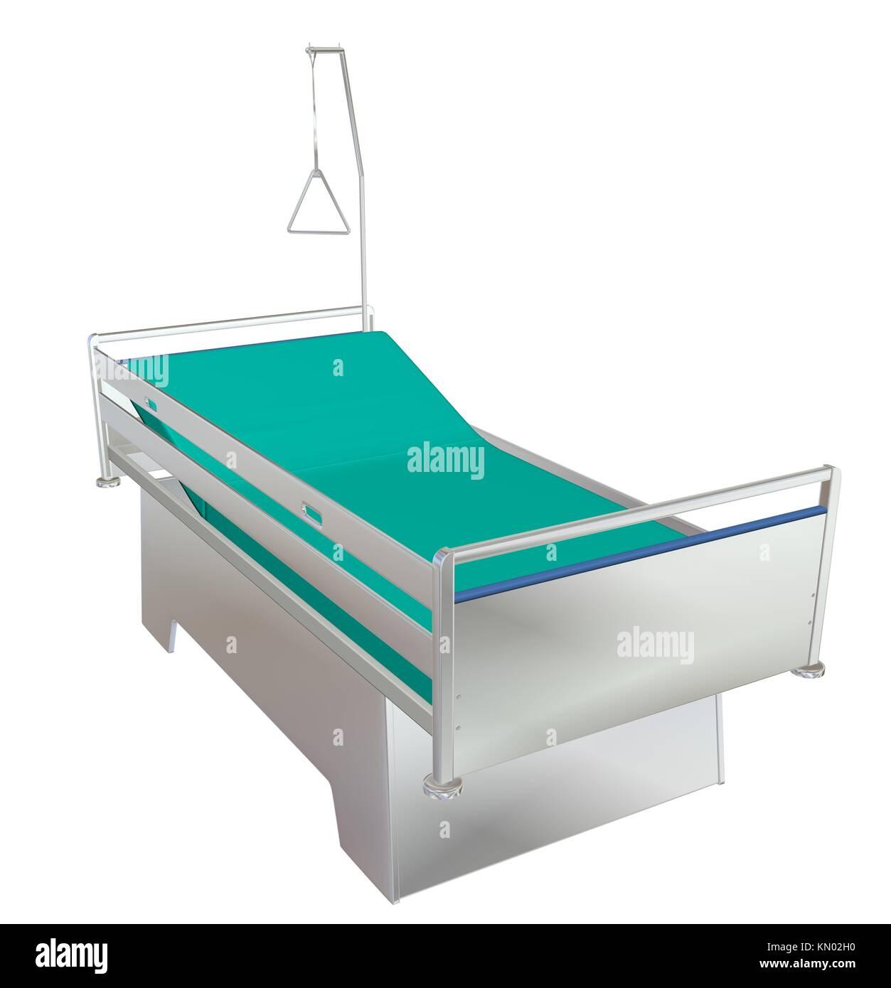 Vert et gris de l\'hôpital pour enfants mobile lit avec fauteuils et ...