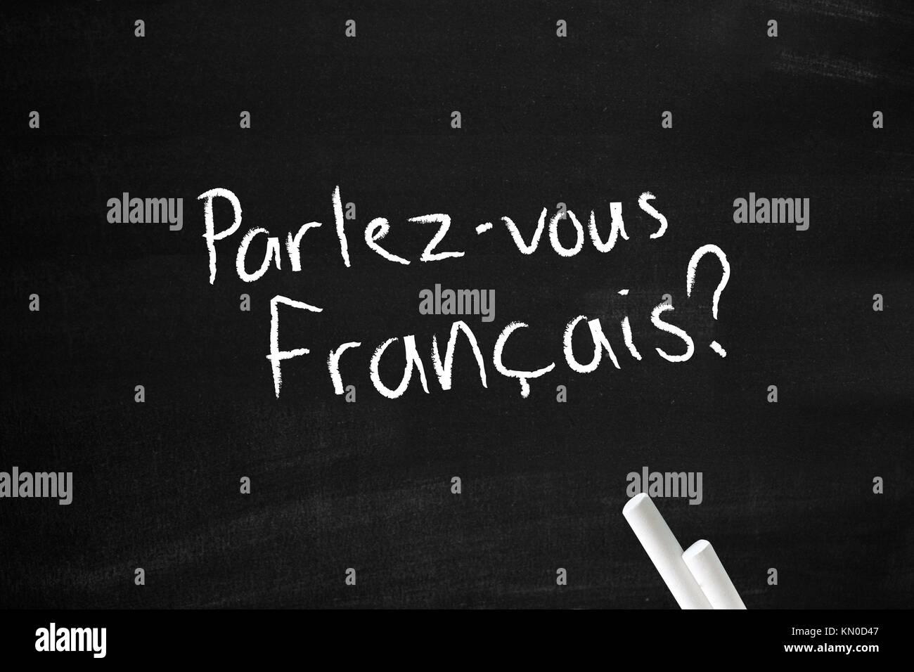 Parlez-vous francais Photo Stock