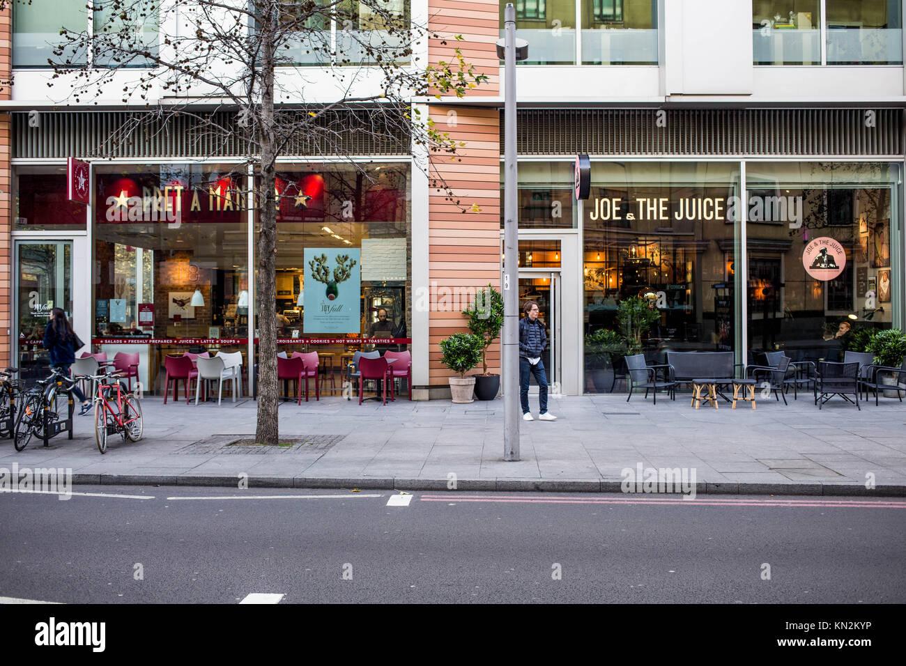 Pret A Manger et Joe et le jus dans un café à côté de l  458d2522854d