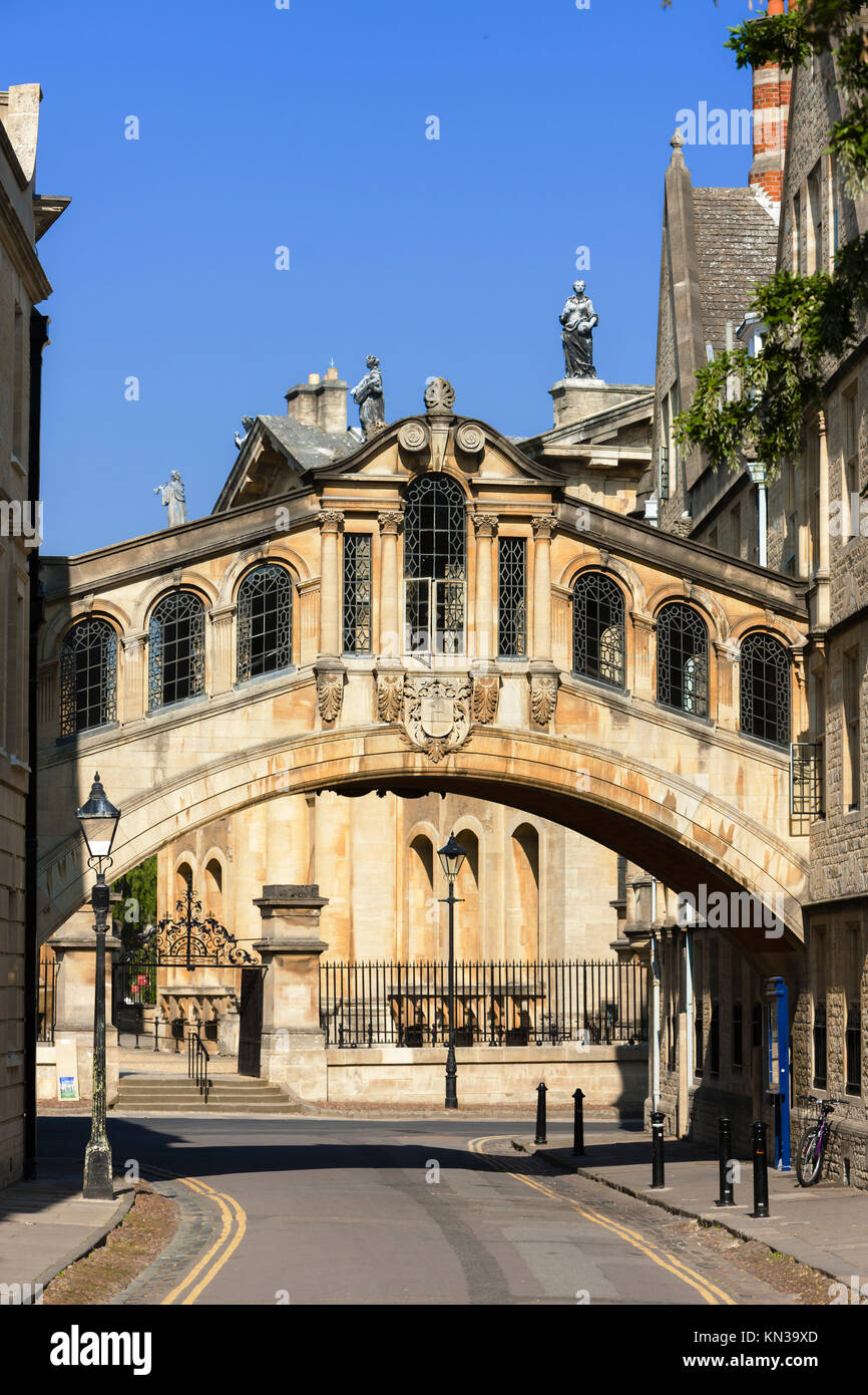 Le Pont des Soupirs, Oxford, Oxfordshire, Angleterre. Photo Stock