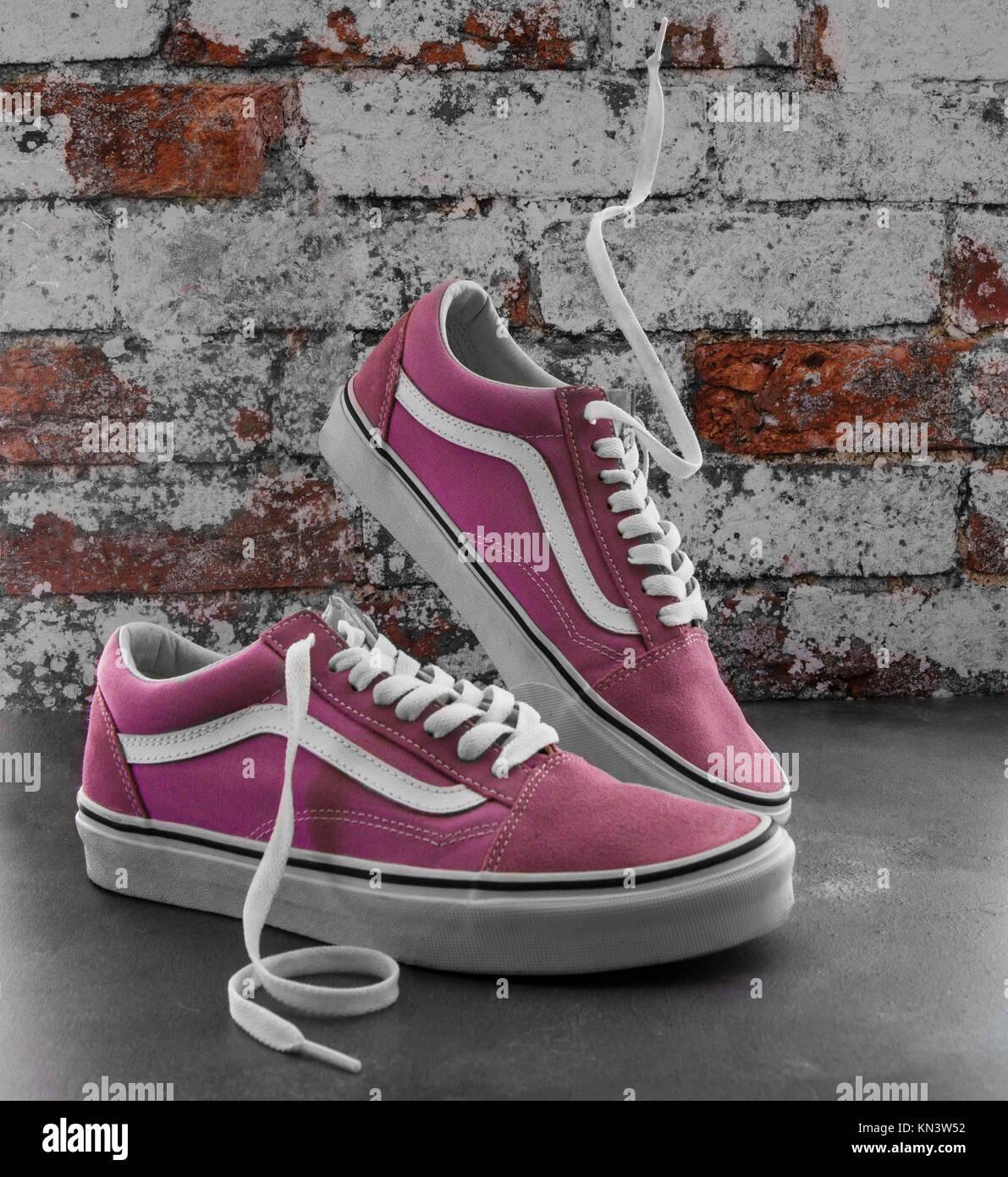 chaussures en dentelle herringbone old skool vans