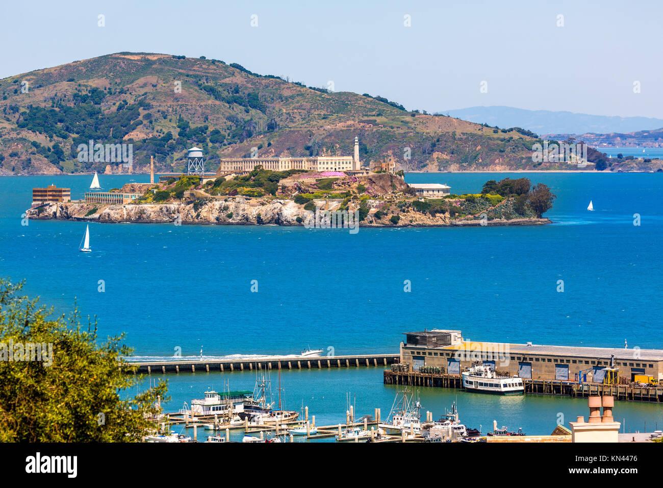 Pénitencier d'Alcatraz à San Francisco en Californie aux États-Unis. Photo Stock