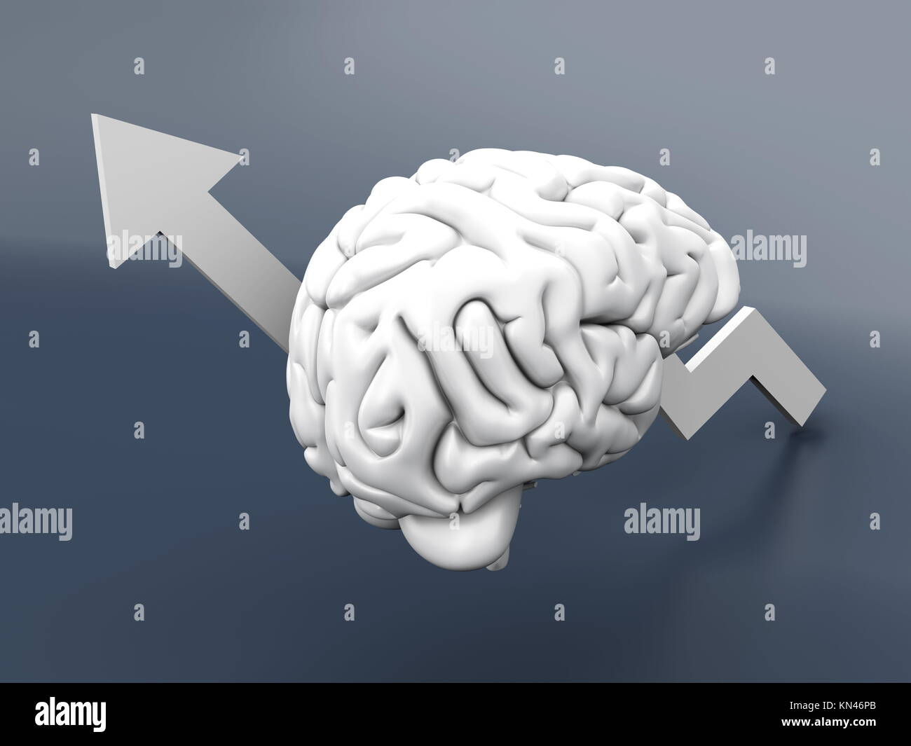 L'intelligence croissante. 3D Illustration. Photo Stock