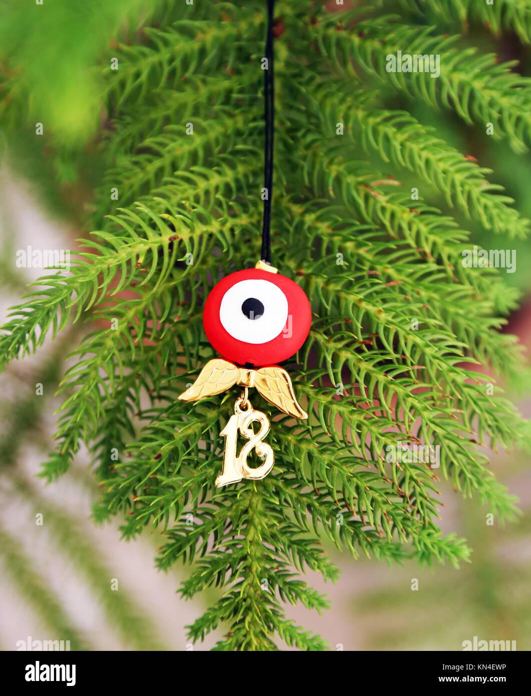 plus de photos 86c7b 9fc76 Bijoux de Noël - mauvais œil Collier avec pendentif 2018 ...