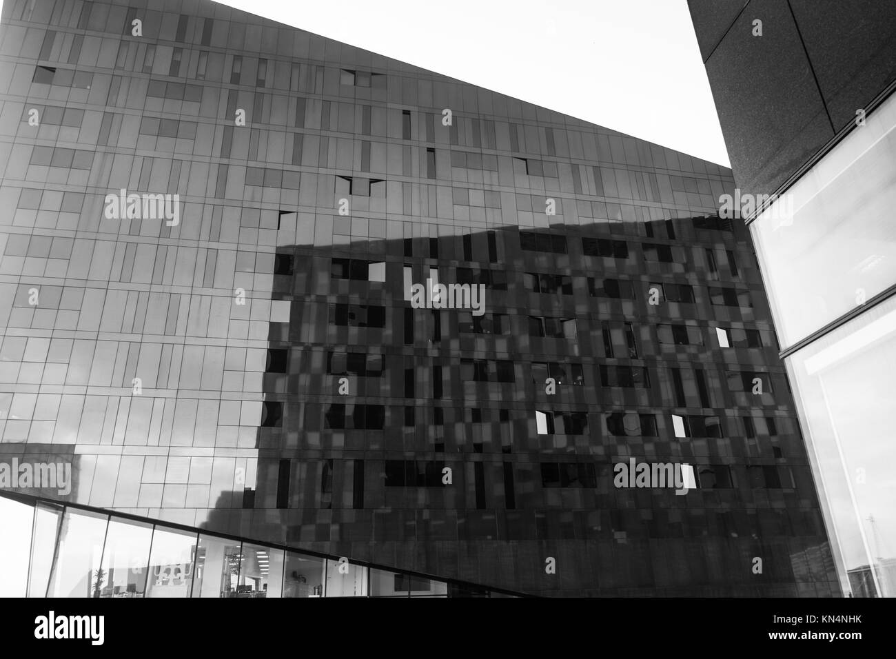 L'architecture moderne Liverpool Docks Liverpool North West England 30.10.l7 Banque D'Images