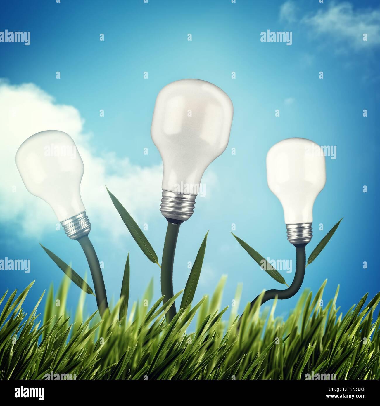 Puissance et énergie alternative design. Photo Stock