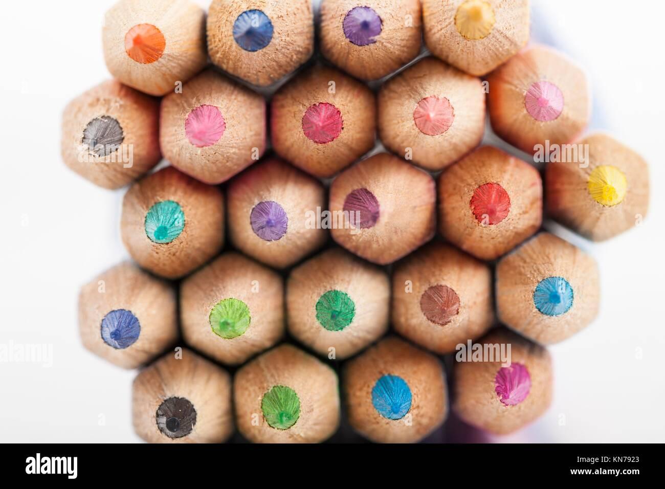 Crayon de couleur. Photo Stock