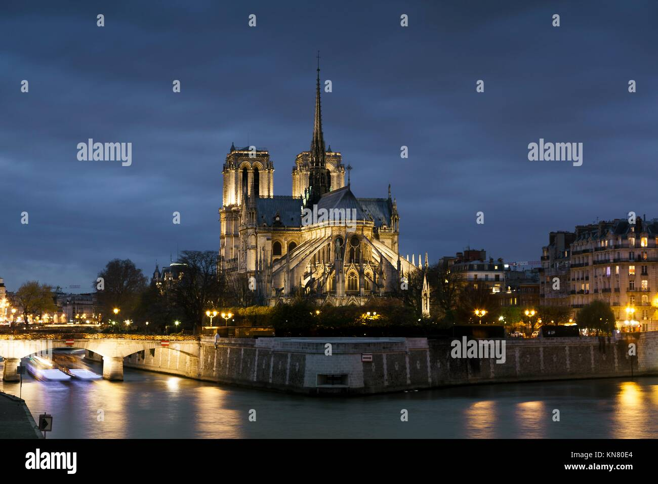 La Cathédrale Notre Dame, Paris, Ile de France, France. Photo Stock