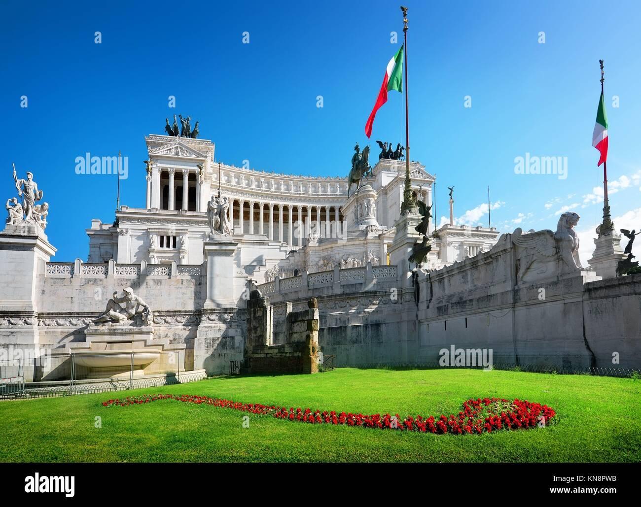 Monument à Piazza Venezia, Rome, Italie. Photo Stock