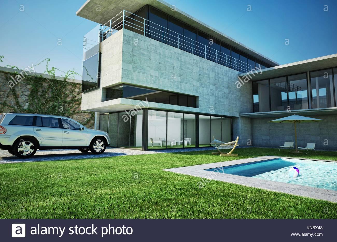 Villa de luxe moderne avec piscine. L\'architecture très élégante ...