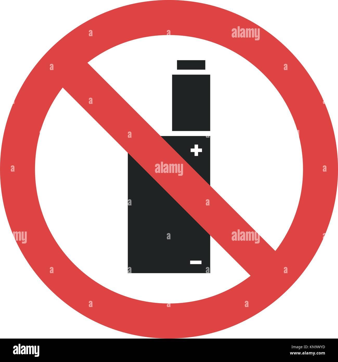 Symbole Vecteur Vaping Interdit Fumer Cigarette Lectronique Non