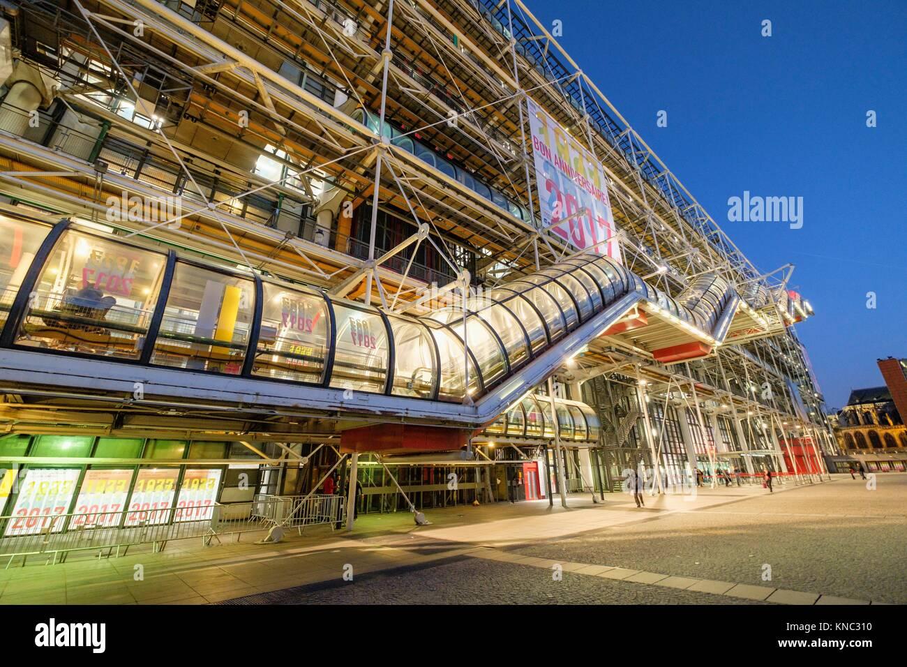 Centre national d'art et de Culture Georges-Pompidou, Paris, France Photo Stock