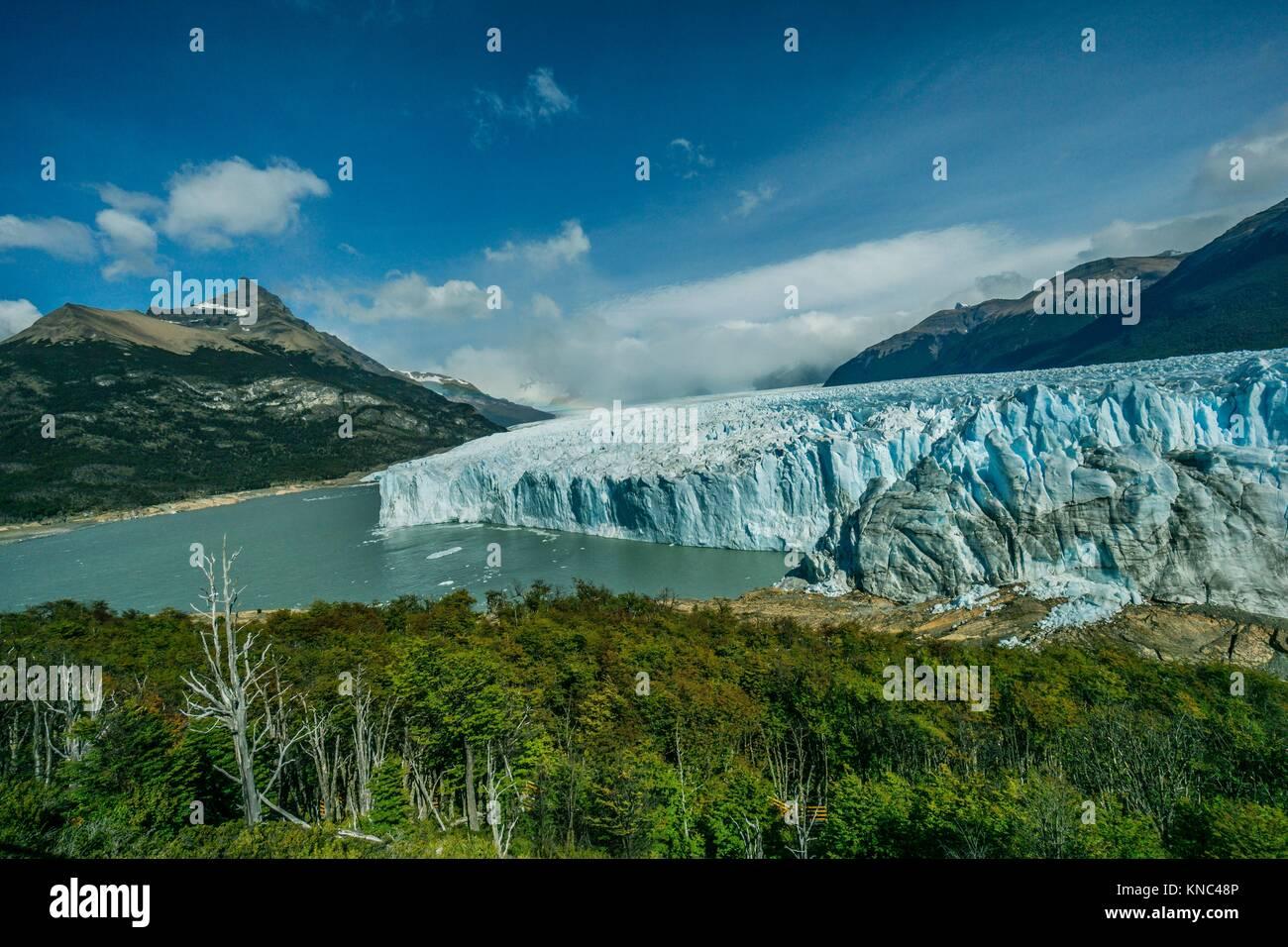 Glaciar Perito Moreno, Parque Nacional Los Glaciares, departamento Lago Argentino, provincia de Santa Cruz, Patagonie, Photo Stock