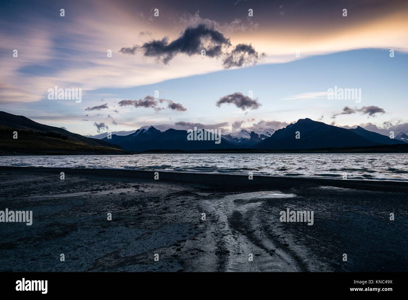 Lago Roca, El Calafate, le parc national Los Glaciares en Patagonie, Argentine. Photo Stock