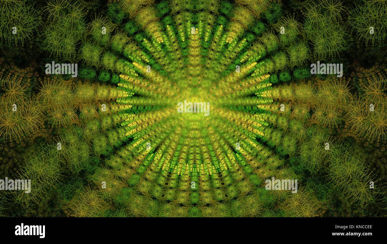 Abstract fractal design. Isolé sur fond noir. Banque D'Images