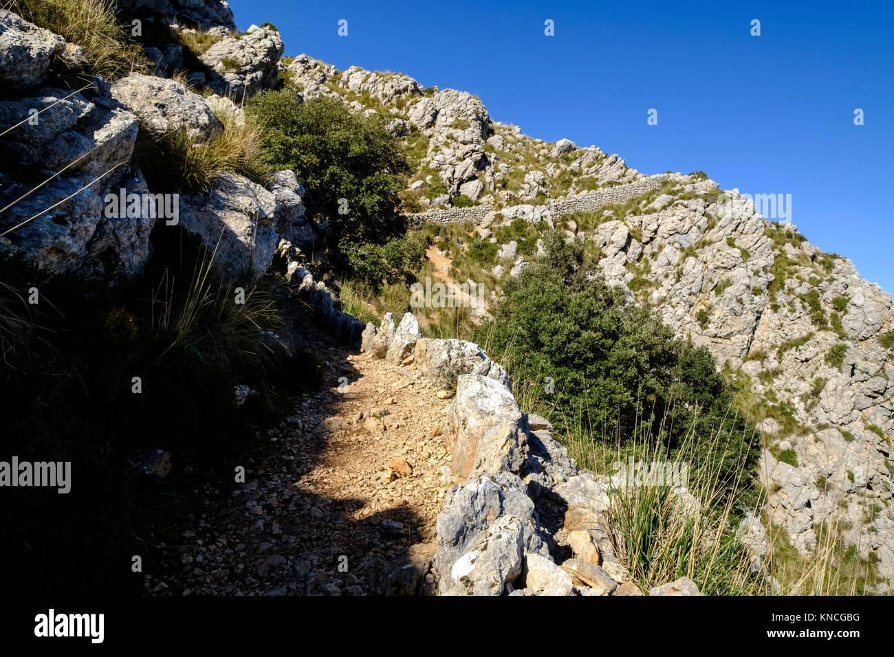 Ses Voltes d'en Galileu ,finca pública de fils Massip ,propiedad del Consell de Mallorca, Mola de fils Photo Stock