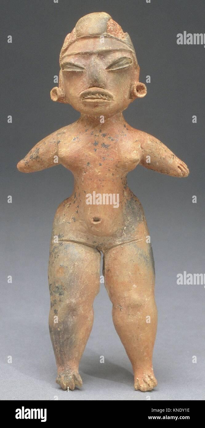 Figure féminine. Date: 12ème-9ème siècle avant J.C; Géographie: Mexique, Photo Stock