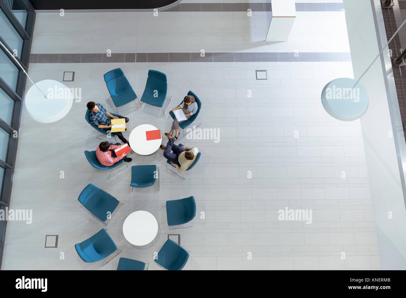 Vue supérieure de l'installation de génie en réunion Photo Stock
